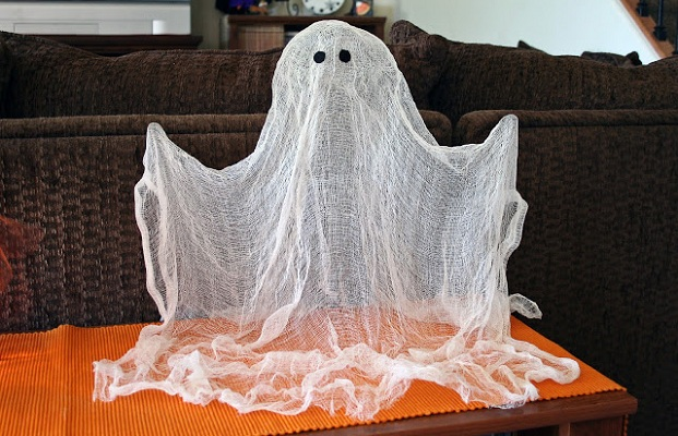diy cheese cloth ghost